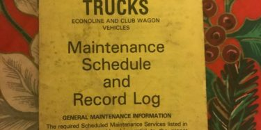 Maintenance schedule and record log - 1985 legacy